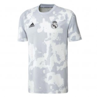 2019-2020 Real Madrid Adidas Pre-match Training Shirt (White) - Kids