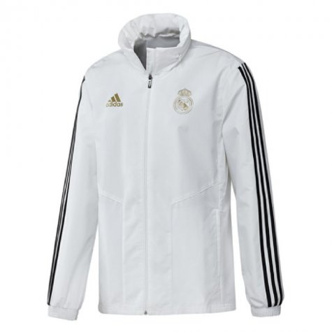 2019-2020 Real Madrid Adidas Allweather Jacket (White)