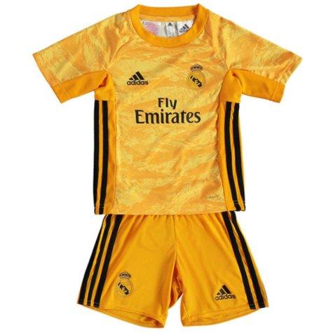 2019-2020 Real Madrid Adidas Home Goalkeeper Full Kit (Kids)