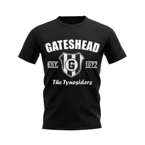 Gateshead Established Football T-Shirt (Black)