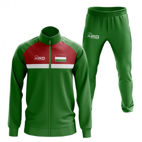 Hungary Concept Football Tracksuit (Green)
