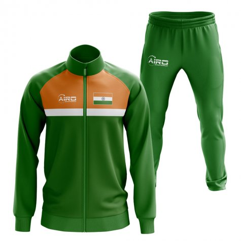 India Concept Football Tracksuit (Green)