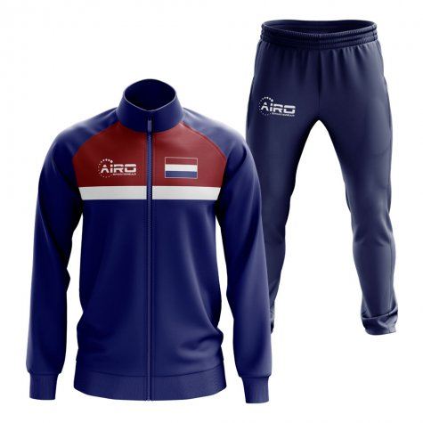 Netherlands Concept Football Tracksuit (Navy)