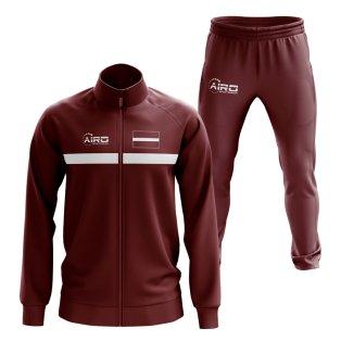 Latvia Concept Football Tracksuit (Maroon)
