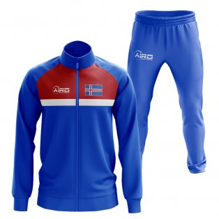 Iceland Concept Football Tracksuit (Blue)