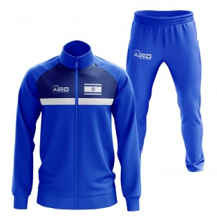 Israel Concept Football Tracksuit (Blue)