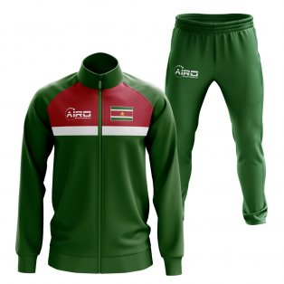 Suriname Concept Football Tracksuit (Green)