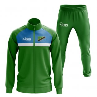 Tanzania Concept Football Tracksuit (Green)