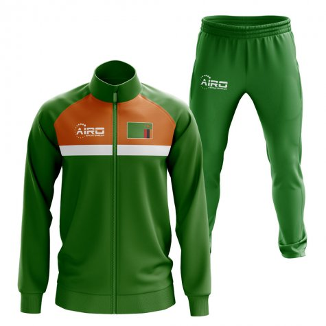 Zambia Concept Football Tracksuit (Green)