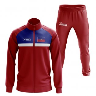 Haiti Concept Football Tracksuit (Red)