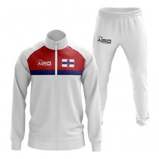 Netherlands Antilles Concept Football Tracksuit (White)