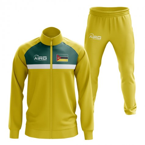 Mozambique Concept Football Tracksuit (Yellow)