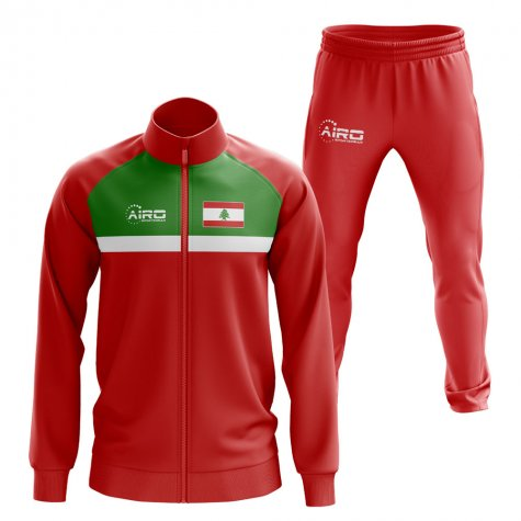 Lebanon Concept Football Tracksuit (Red)