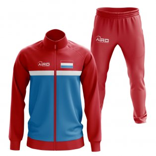 Luxembourg Concept Football Tracksuit (Red)