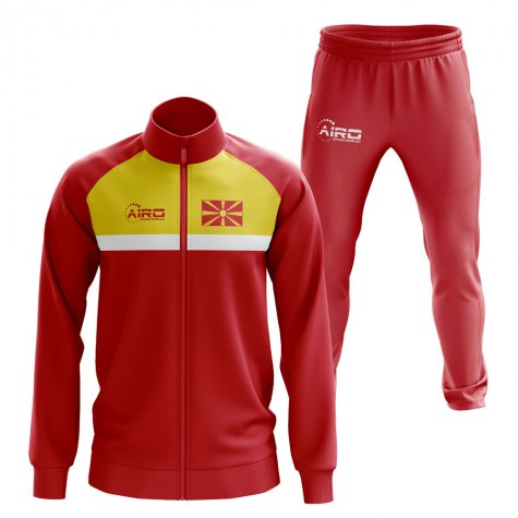 Macedonia Concept Football Tracksuit (Red)