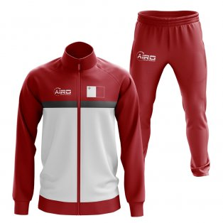 Malta Concept Football Tracksuit (Red)