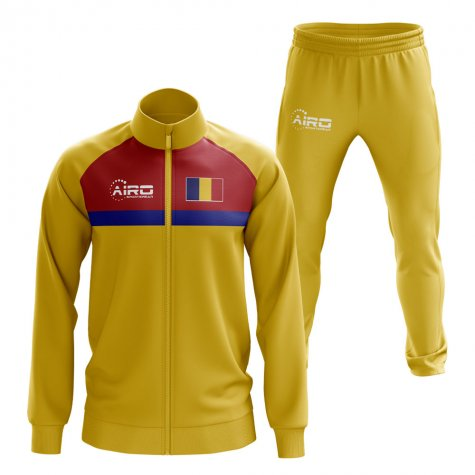 Romania Concept Football Tracksuit (Yellow)