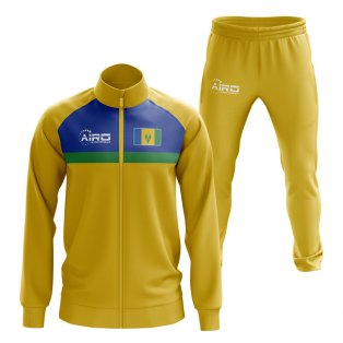 Saint Vincent and The Grenadines Concept Football Tracksuit (Yellow)