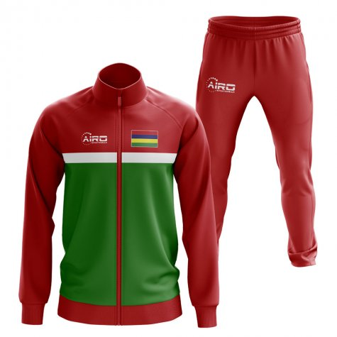 Mauritius Concept Football Tracksuit (Red)