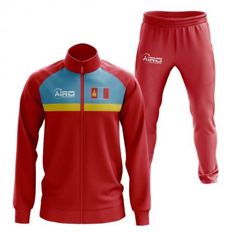 Mongolia Concept Football Tracksuit (Red)