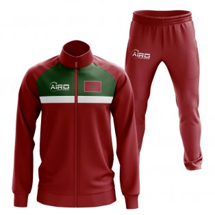 Morocco Concept Football Tracksuit (Red)