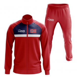 Norway Concept Football Tracksuit (Red)