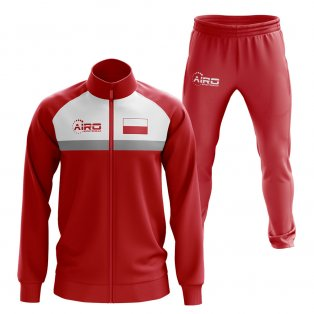 Poland Concept Football Tracksuit (Red)