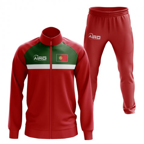 Portugal Concept Football Tracksuit (Red)