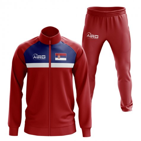 Serbia Concept Football Tracksuit (Red)