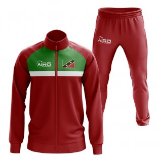 St Kitts Concept Football Tracksuit (Red)
