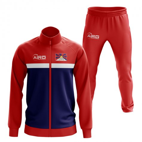 Tibet Concept Football Tracksuit (Red)