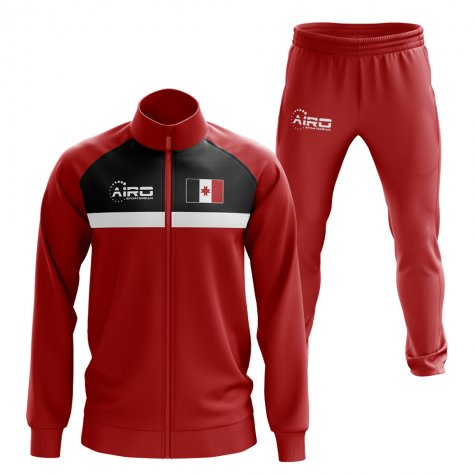 Udmurtia Concept Football Tracksuit (Red)