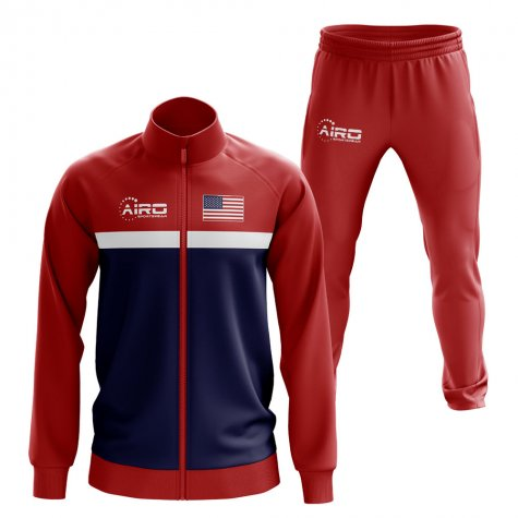 Usa Concept Football Tracksuit (Red)
