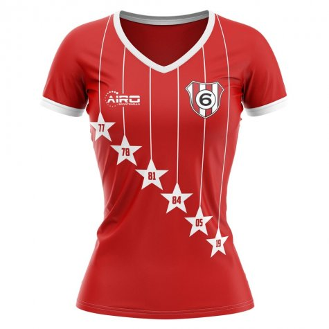 2020-2021 Liverpool 6 Time Champions Concept Football Shirt - Womens