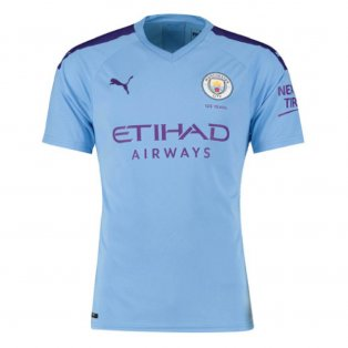 2019-2020 Manchester City Puma Home Football Shirt