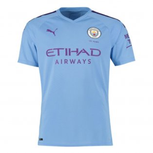 2019-2020 Manchester City Puma Home Authentic Football Shirt
