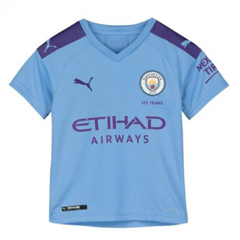 2019-2020 Manchester City Puma Home Football Shirt (Kids)