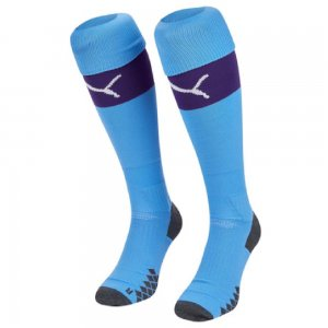 2019-2020 Manchester City Home Football Socks Blue (Kids)