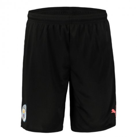2019-2020 Manchester City Away Football Shorts (Black)