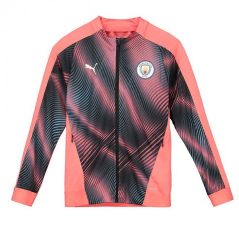 2019-2020 Manchester City Puma Stadium Jacket (Peach) - Kids