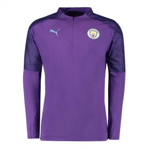 2019-2020 Manchester City Puma Half Zip Training Top (Purple)