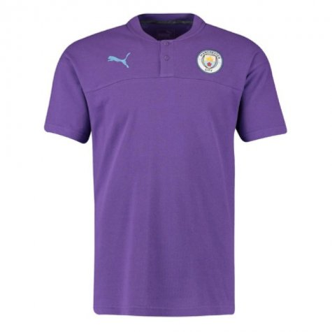 2019-2020 Manchester City Puma Casual Performance Polo Shirt (Purple)