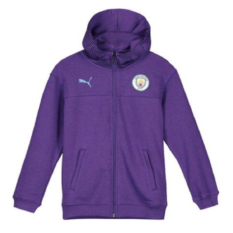 2019-2020 Manchester City Puma Casuals Full Zip Hoody (Purple) - Kids