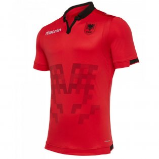 2019-2020 Albania Home Macron Football Shirt