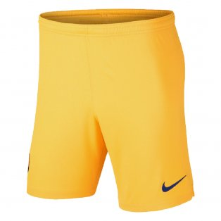 2019-2020 Barcelona Away Nike Football Shorts Yellow (Kids)