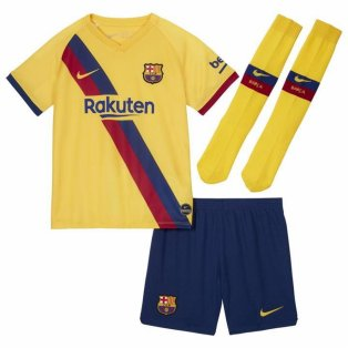 2019-2020 Barcelona Away Nike Little Boys Mini Kit
