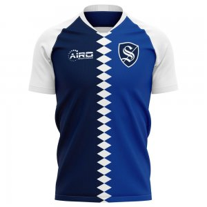 2020-2021 Strasbourg Home Concept Football Shirt