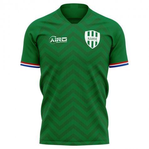 2020-2021 Saint Etienne Home Concept Football Shirt