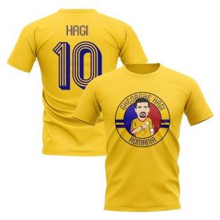 Gheorghe Hagi Romania Illustration T-Shirt (Yellow)