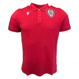 2019-2020 Cagliari Travel Polo Shirt (Red)